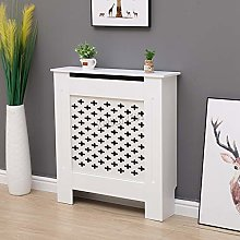 WestWood White Painted Radiator Cover Wall Cabinet