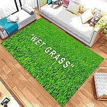 Wet Grass Patterned Rug, Wet Grass Carpet, For