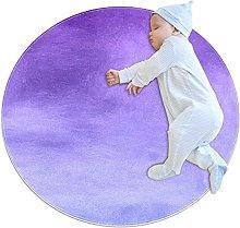 Wetia Area Rug Round Carpet Purple gradient for