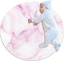 Wetia Area Rug Round Carpet Purple marble for