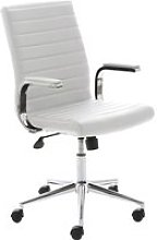 Wexford Executive Bonded Leather Chair (White),