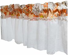 WFENG Printed Valance Short Half Curtains, Bay