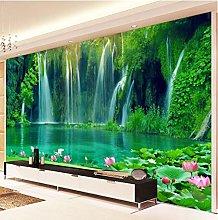 Wffmx Custom Photo Wall Paper 3D Waterfall