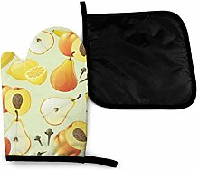 Wfispiy Mitts Yellow Fruits Heat Resistant Oven