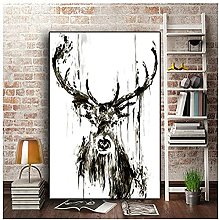 WFLWLHH Canvas Wall Art Giclee Black And White