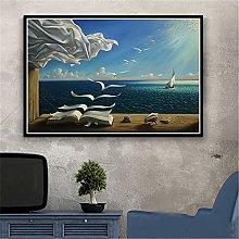 WFLWLHH Canvas Wall Art Giclee Prints Surrealism