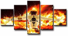 WFLWLHH Print On Canvas Posters & Prints 5 Piece