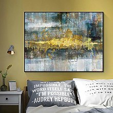 WFLWLHH Print On Canvas Posters & Prints Abstract