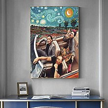 WFLWLHH Print On Canvas Posters & Prints Funny