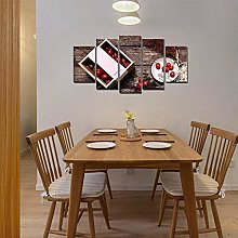 WFLWLHH Print On Canvas Posters & Prints Kitchen