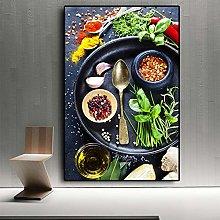 WFLWLHH Print On Canvas Posters & Prints Vegetable