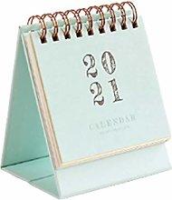 WFZ17 2020-2021 Desk Calendar Daily Schedule Table