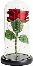 WFZ17 Artificial Eternal Rose Flower Lampshade