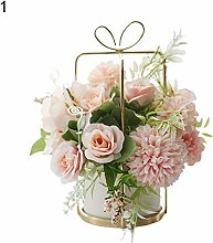 WFZ17 False Rose Flower Artificial Potted Plant