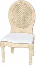 WFZ17 Mini 1/12 Doll House Toy Wooden Chair Model