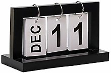 WFZ17 Nordic Wooden Page-turning Calendar Ornament
