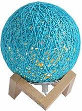 WFZ17 Twine Rattan Ball Night Light Desk Bedside
