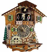Wgwioo Cuckoo clock, black forest chalet clock,