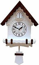 Wgwioo Cuckoo Pendulum Wall Clock, Nordic Modern