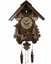 Wgwioo Quartz Cuckoo Clock, Black Forest House,