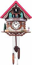 Wgwioo Quartz Cuckoo Clock, Black Forest House