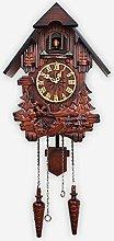 Wgwioo Traditional Cuckoo Wall Quartz Clock, Black