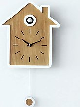 Wgwioo Wall Clock, Modern Version Bird Song Chime,
