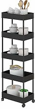 WGYDREAM Storage Trolley Cart Kitchen Storage