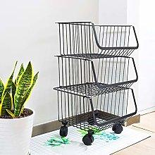 WGYDREAM Storage Trolley Cart Kitchen Trolley