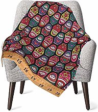 WGYWE Russian Doll Fabric Ultra Soft Baby Blanket