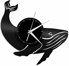 Whale(a) vinyl wall clock, vinyl record home