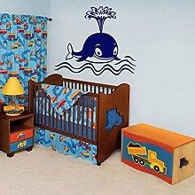Whale Nursery Cartoon Wall Vinyl Sticker Decal