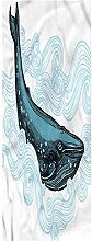 Whale Runner Rug, 2'x3', Whale with