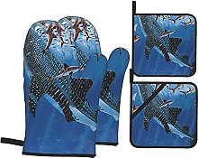 Whale Shark Printed Resistant Hot Pads with
