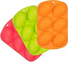 Whaline 3Pcs Easter Egg Mold Colorful Easter Mould