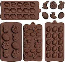 Whaline 4Pcs Easter Mold Easter Egg Mold Rabbit