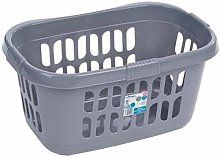Wham 2 x HIPSTER LAUNDRY BASKET-SILVER