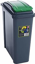 Wham 25/50 Litre Plastic Waste Bin with Flap Lid