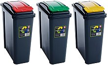Wham 25L Slimline Home Office Trash Plastic