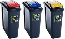 Wham 25L Slimline Home Trash Waste Plastic