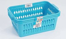 Wham Blue Set of 3 Medium Plastic Handy Fruit