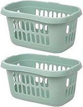 Wham Set 2 Hipster Laundry Basket Silver Sage