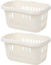 Wham Set 2 Hipster Laundry Basket Soft Cream