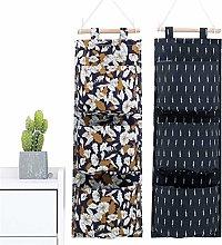 whatUneed Wall Hanging Storage Bag 3 Pocket,