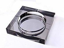 WHBGKJ Household ashtray Crystal Glass Ash Tray