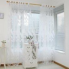 Wheat Sheer Curtain Tulle Window SOMESUN Treatment