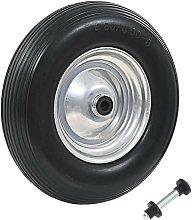 Wheelbarrow Wheel with Axle Solid PU 4.00-8 390 mm