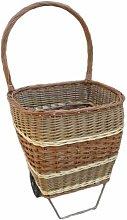 Wheeled Shopping Wicker Basket Brambly Cottage