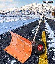 Wheeled Snow Shovel Pusher for Doorway Driveway,