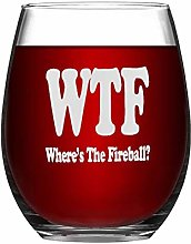 Where's The Fireball Crystal Stemless Wine